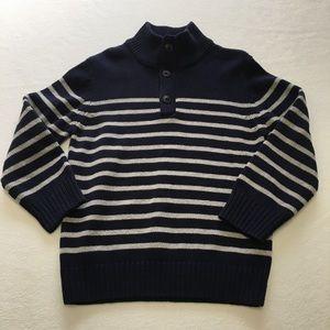 Children's Place 4T navy & grey stripe sweater